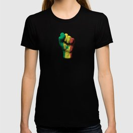 Senegal Flag on a Raised Clenched Fist T-shirt