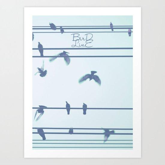 Bird Line Art Print