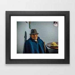 Abuelo y su choclo Framed Art Print