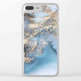 Gold immersion Clear iPhone Case