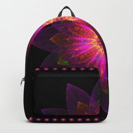Abstract purple flower 06 Backpack