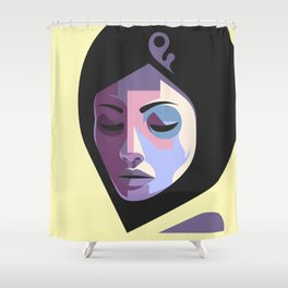 Girl in hijab Shower Curtain