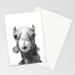Black and White Camel Portrait Stationery Cards