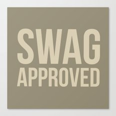 Swag approved Canvas Print