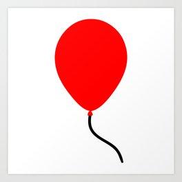 Red Balloon Emoji Art Print