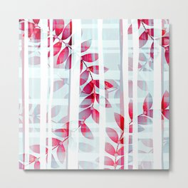 Abstract Foliage Pattern Metal Print