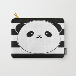 Cute, stripy Panda Face Carry-All Pouch