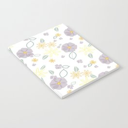 Lavender and Yellow Floral Notebook