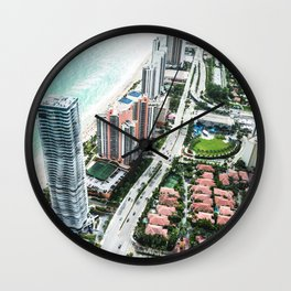 fort lauderdale aerial view Wall Clock