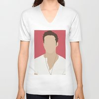 ryan gosling V-neck T-shirts featuring Ryan Gosling Portrait by RoarsAdams
