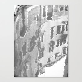 Black and white Venetian canal reflection Canvas Print