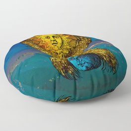 The creative fire that unite the polarities Floor Pillow