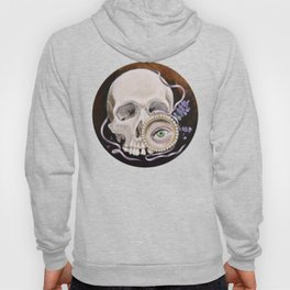 Stillife with skull, lavender and lovers eye Hoody