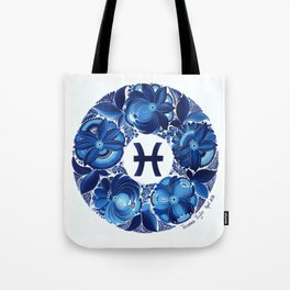 Pisces in Petrykivka Style (with signature) Tote Bag