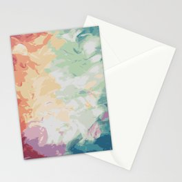 Brush Strokes Abstract Art Design Stationery Cards