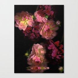 Falling Dahlias | Scanography Canvas Print