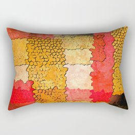 Orange Grunge Rectangular Pillow