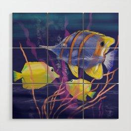 Tropical Fish Wood Wall Art