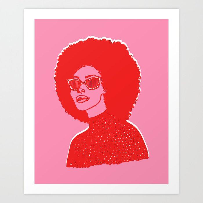 Kara Pink Art Print