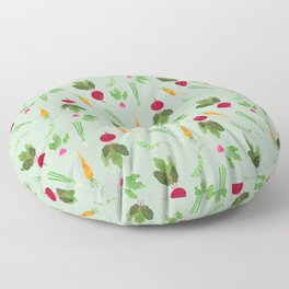 Eat more veggies! Light version Floor Pillow