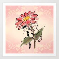 Flower Twins Art Print