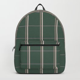 Green Checked Pattern Backpack