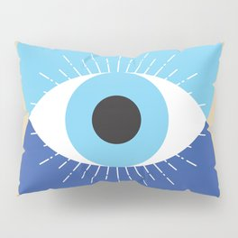Evil Eye Symbol Mid Century Modern Art 70s Style Pillow Sham