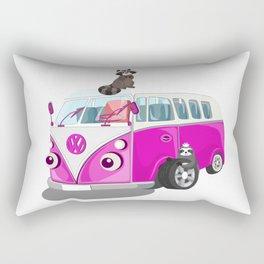 Cute pink bus Rectangular Pillow