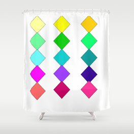 diamonds of color Shower Curtain