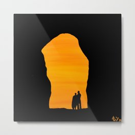 Cave Sunset Metal Print