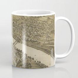 Vintage Pictorial Map of Fairmont WV (1897) Coffee Mug
