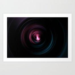 Focus colorful zoom art Art Print
