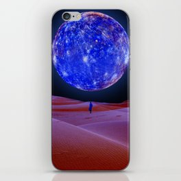Blue planet iPhone Skin