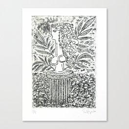 Sculpture in Garden Canvas Print