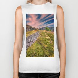 Quarry Sunset Snowdonia Biker Tank