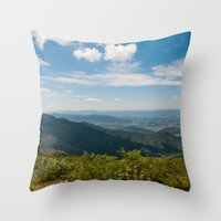 skyline Throw Pillows featuring Skyline  by Ashley Hirst Photography