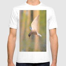 Black Tern in Flight MEDIUM Mens Fitted Tee White