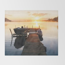 Sunrise at the Cottage Throw Blanket