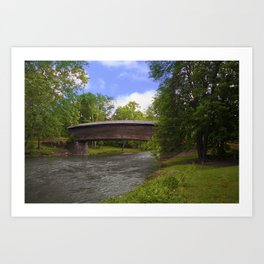 Humpback Covered Bridge Art Print