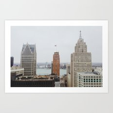 Architectual Variety - Detroit, MI Art Print