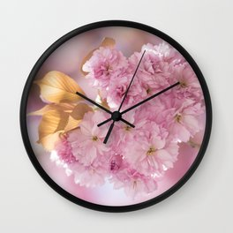 Japanese Cherry Blossom in LOVE Wall Clock