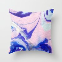 lucy Throw Pillows featuring Lucy by Jenna Mhairi