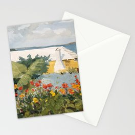 Flower Garden and Bungalow, Bermuda Stationery Cards