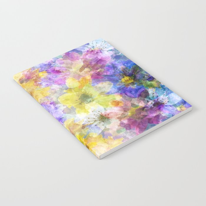 Multicolor Painterly Floral Abstract Notebook