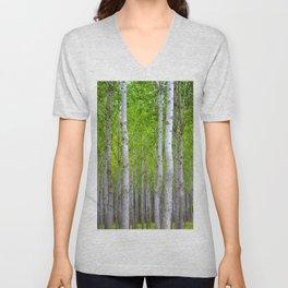 white woods Unisex V-Neck