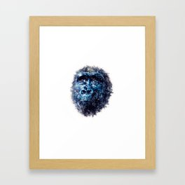 Monkey Watercolor painting Art Framed Art Print