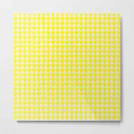 triangle bunting pattern |  yellow & white Metal Print