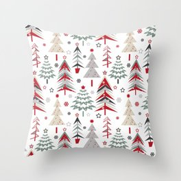 Fairy Christmas forest. Throw Pillow