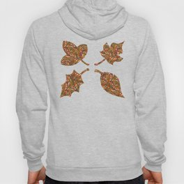 Woodland Forest Floor, Camouflage Plants in Woods Illustration Pattern in Forest Green & Brown Hoody