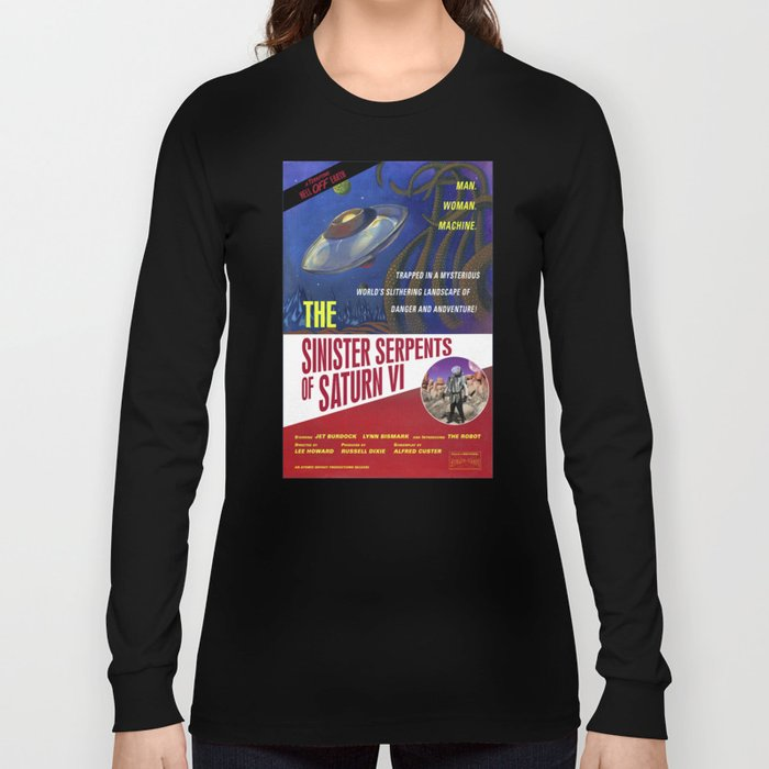 """The Sinister Serpents of Saturn VI"" Movie Poster Long Sleeve T-shirt"